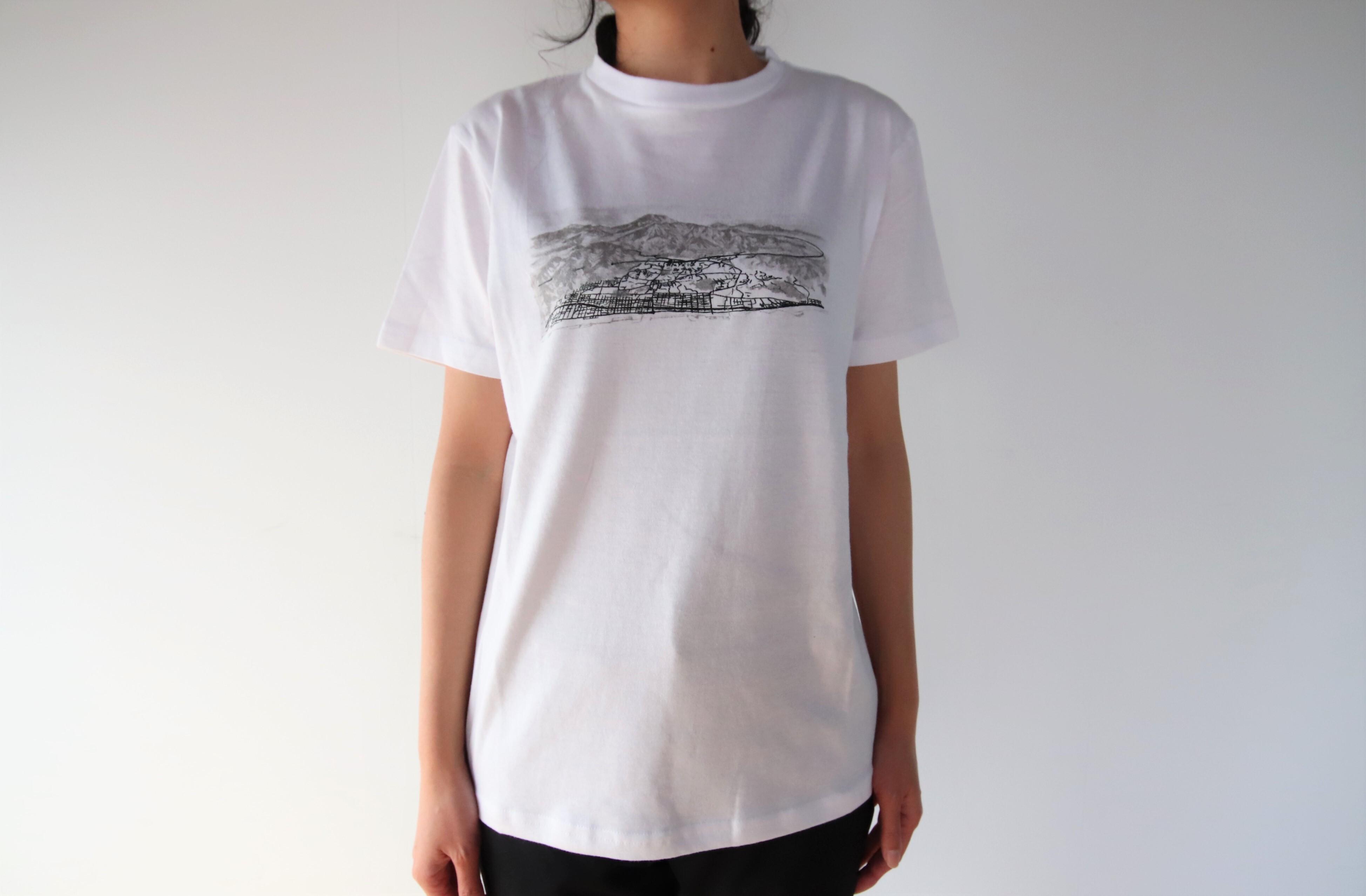 半袖Tシャツ(梅田哲也イン別府)鳥瞰図