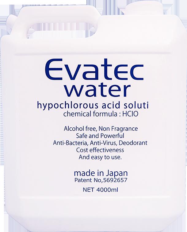 【EVW-4LT3】エヴァテック ウォーター 除菌消臭液 詰換用タンク 4L(300ppm)