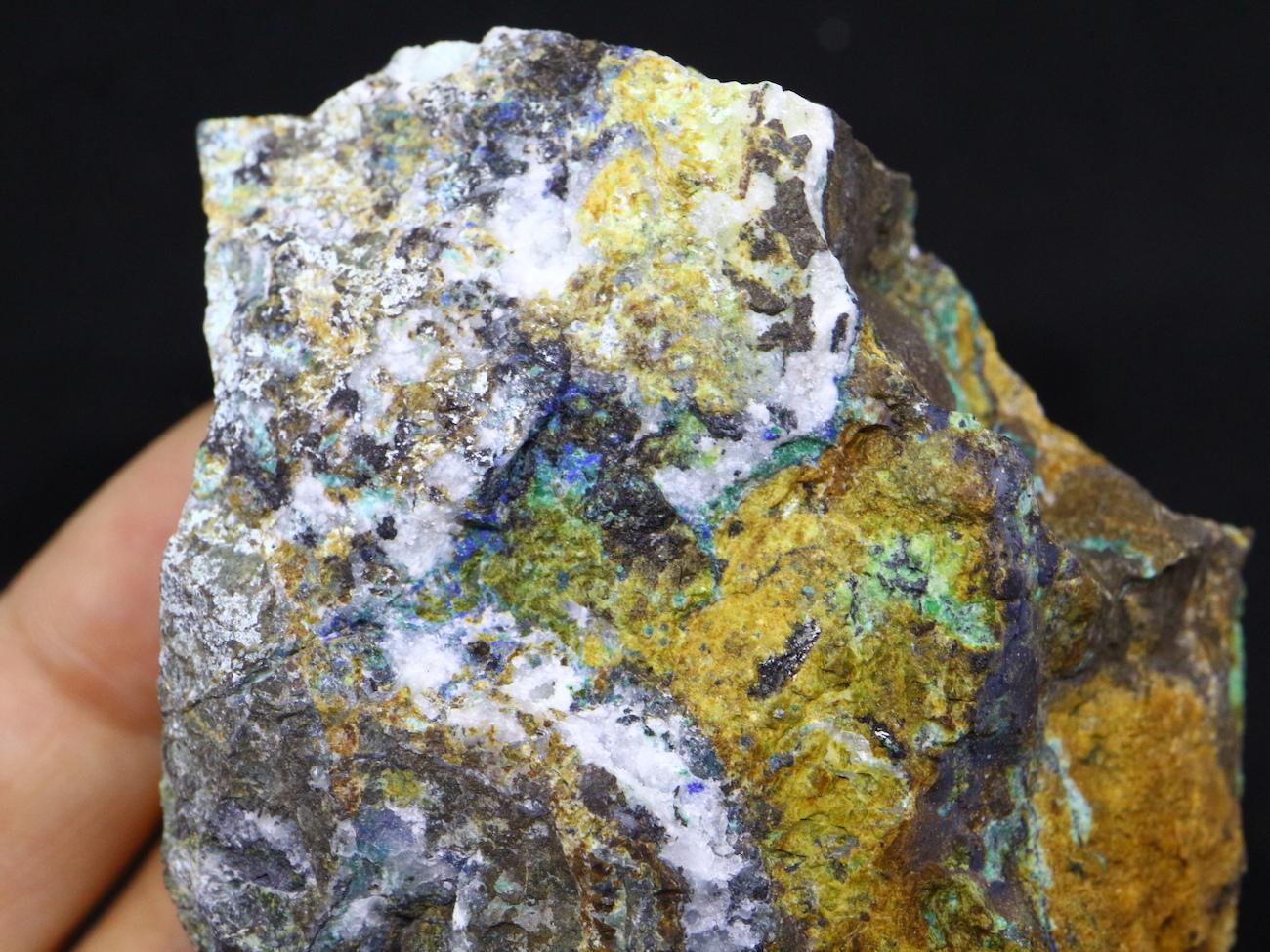 自主採掘!リナライト & カレドナイト 青鉛鉱 カレドニア石  105,5g CHS009  鉱物 天然石 原石