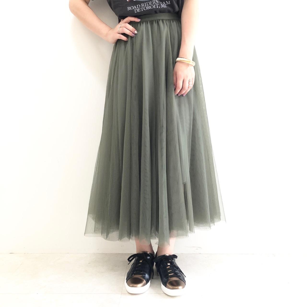 【 GREENDALE GARNET 】チュールロングスカート