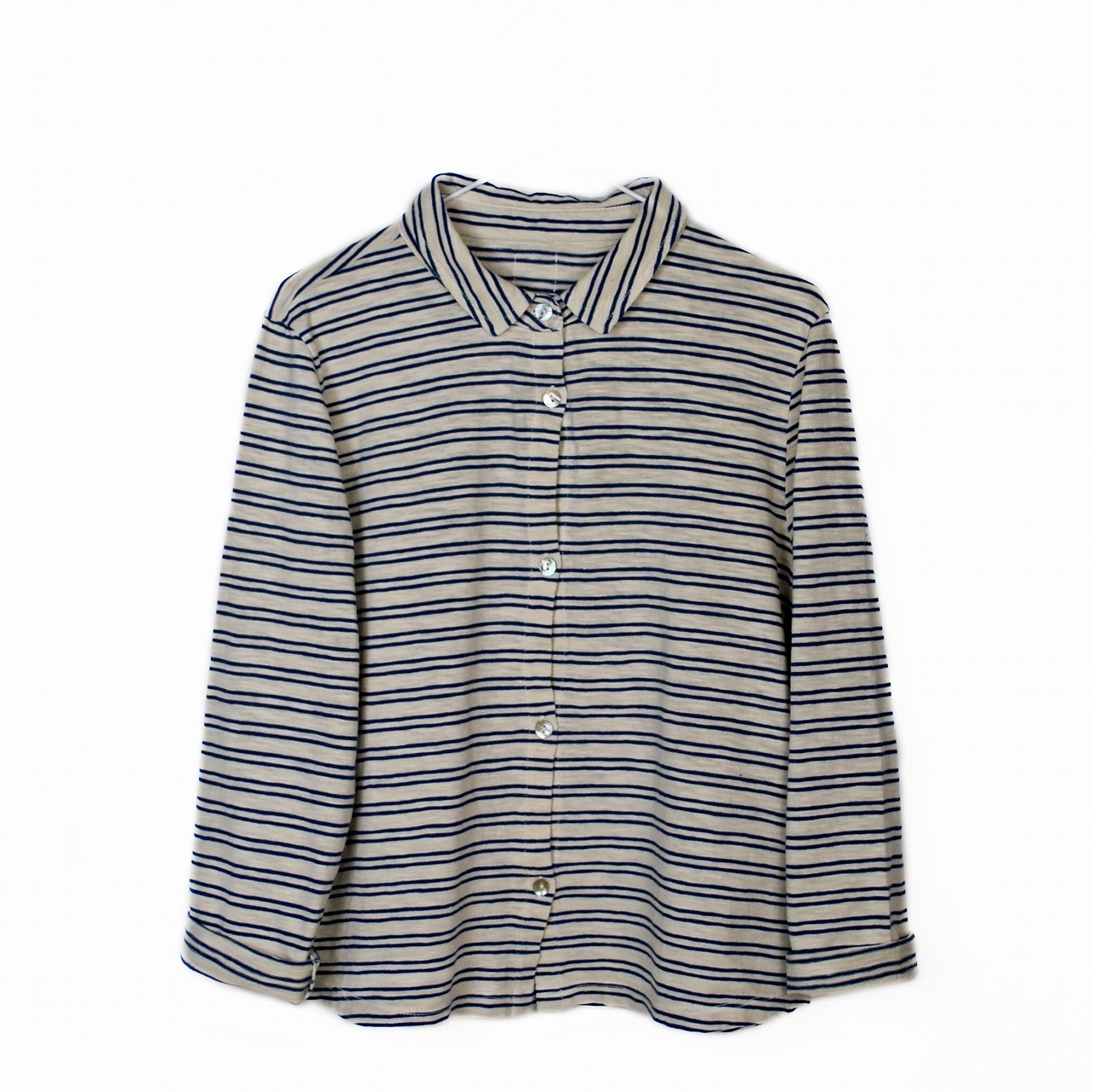 《LE PETIT GERMAIN 2017AW》POLI Striped boy shirt / Hot Milk