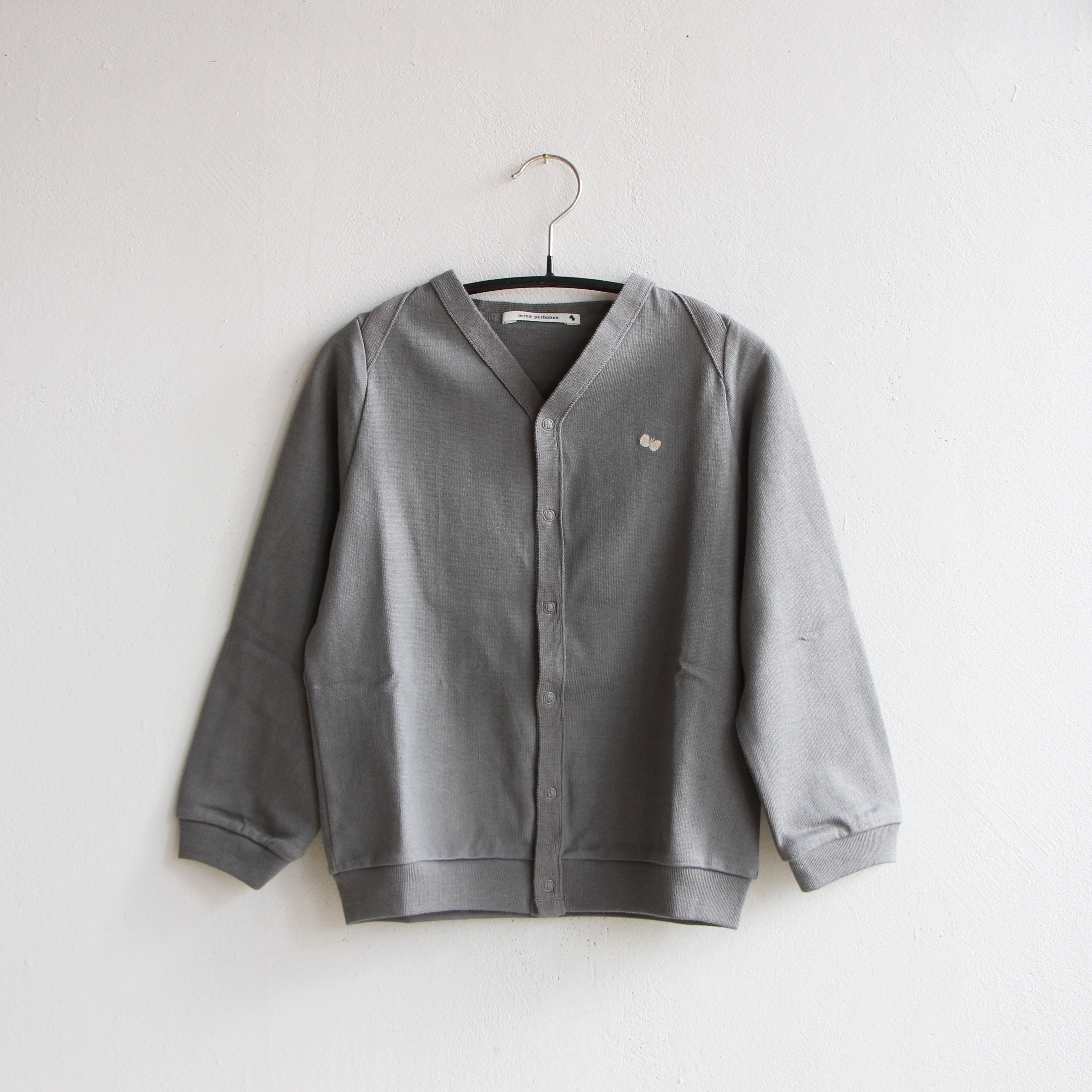 《mina perhonen 2020AW》zutto カーディガン / gray / 110cm
