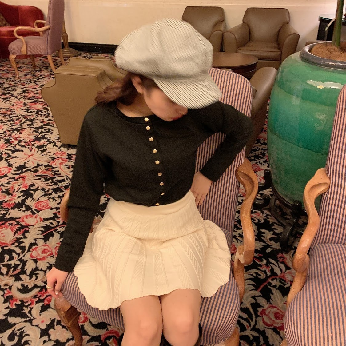 knit flare skirt
