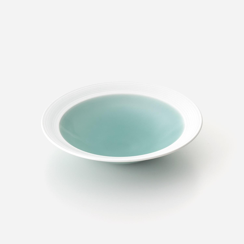 青磁白彩 鉢