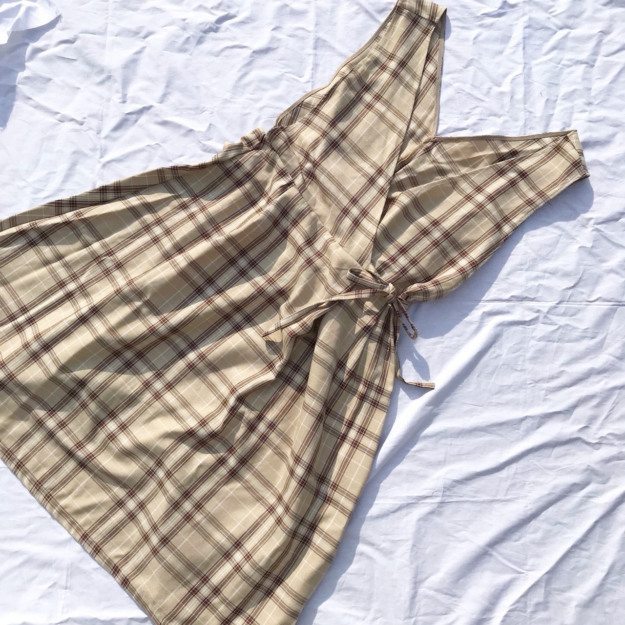 チェック柄ジャンパースカート