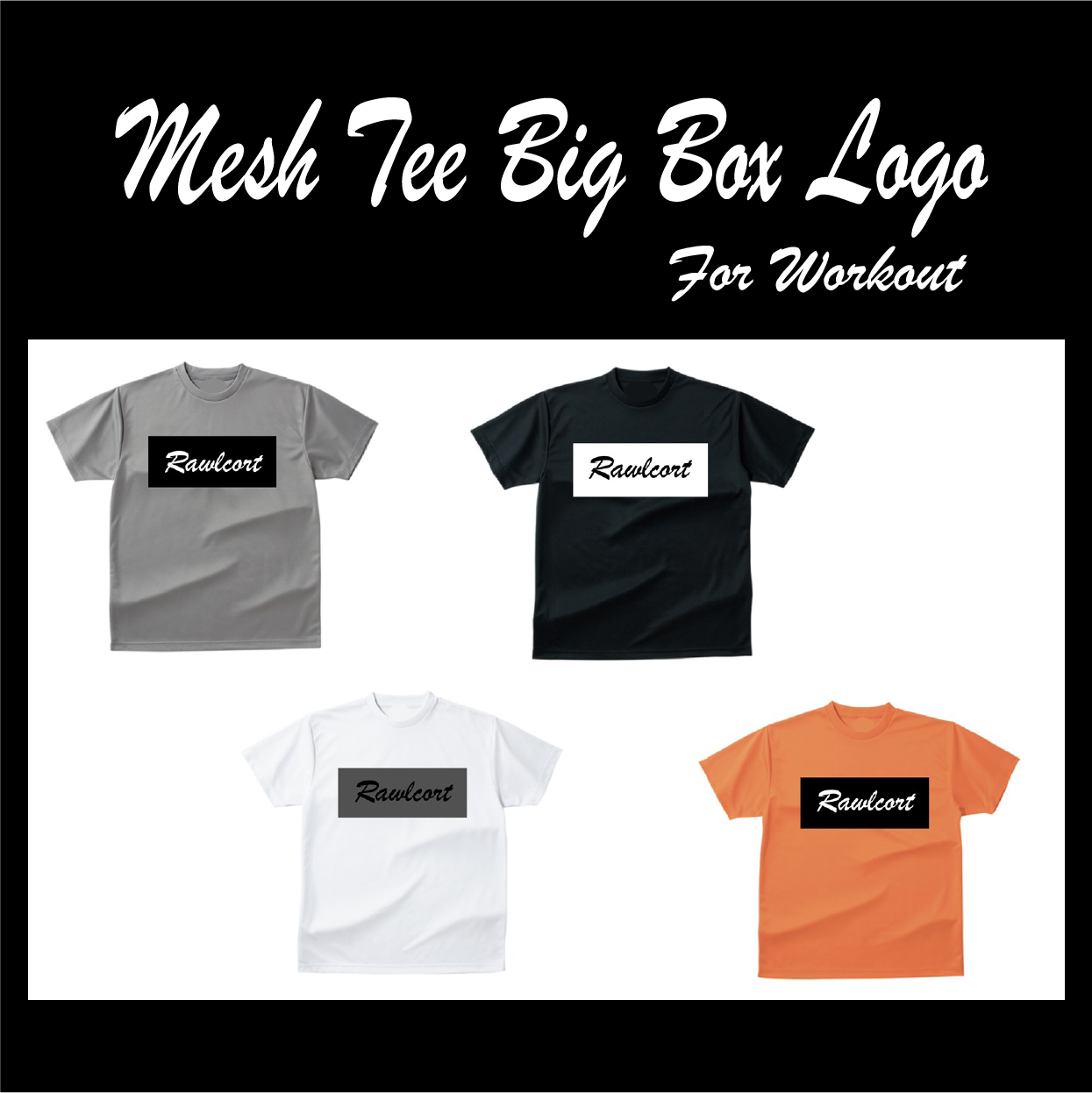 Mesh Tee Big Box Logo For  Workout