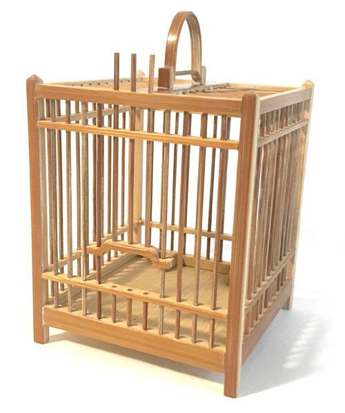 煤竹製虫籠 四角 小サイズ