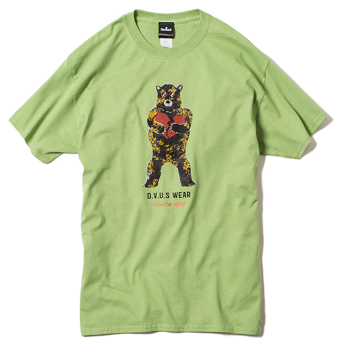 【Deviluse | デビルユース】Broken Bear T-shirts(Pistachio)