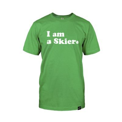 LINE SKIER FOREVER TEE GREEN