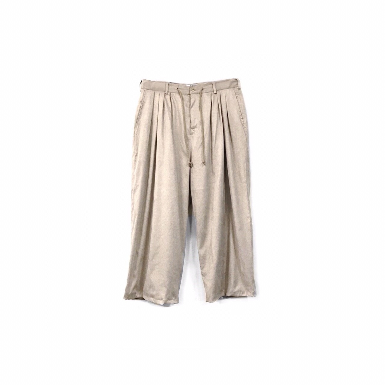 yotsuba - Fake Suede 4tuck Wide Pants / Beige ¥26000+tax