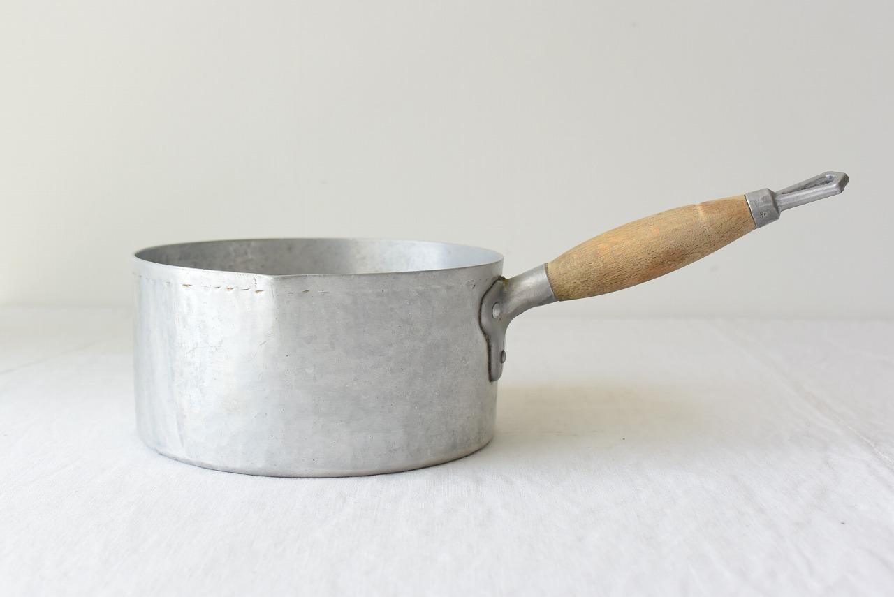 フランスアンティークアルミの片手鍋