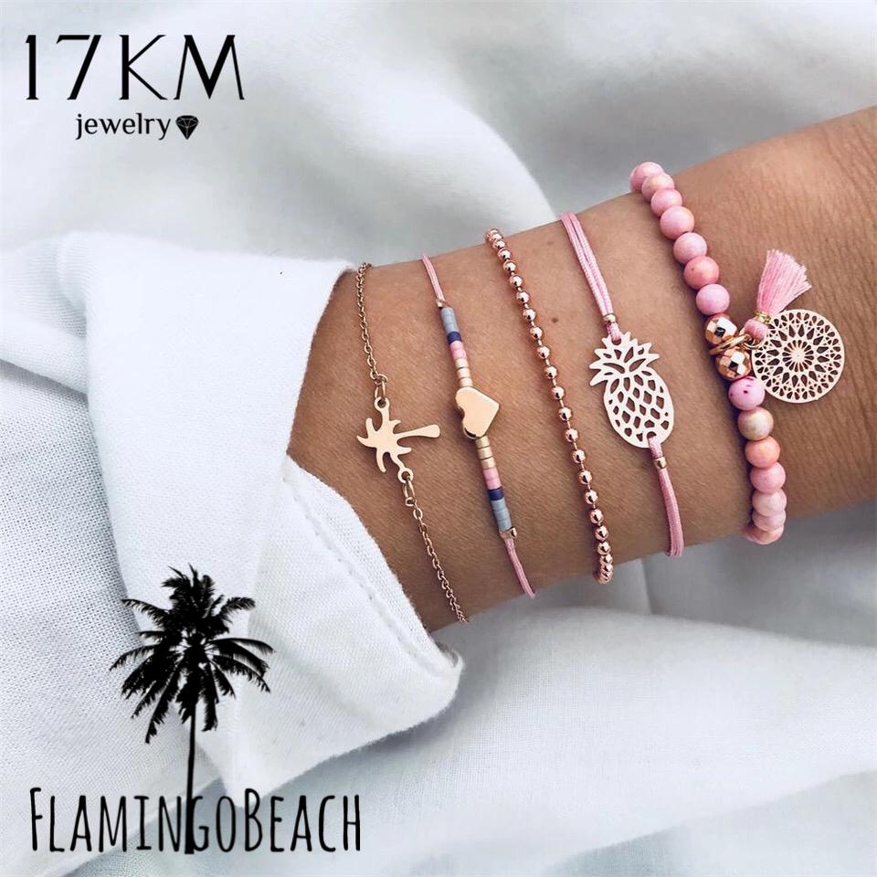 【FlamingoBeach】toropical bracelet set ブレスレット セット