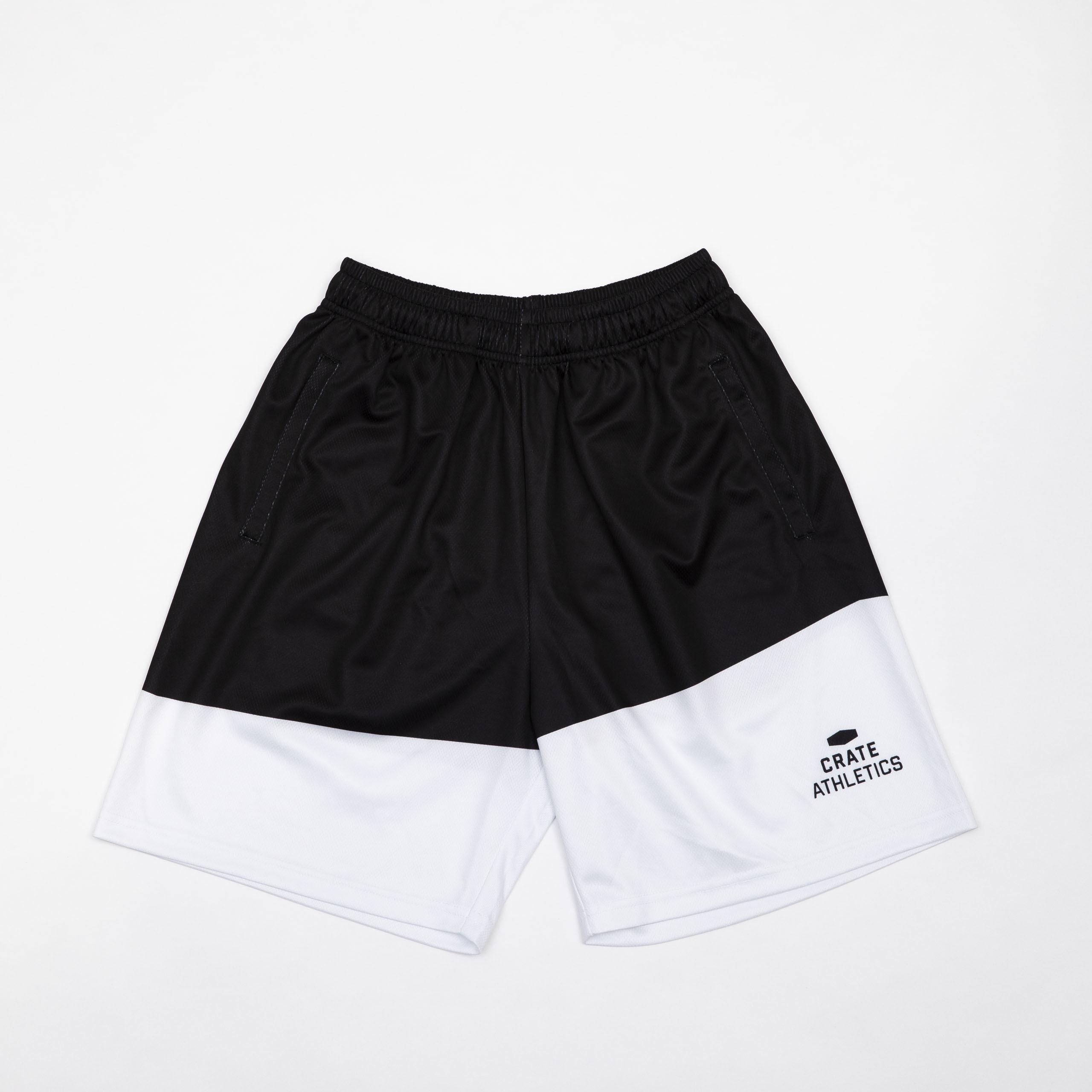Crate Mesh Pants White×Black