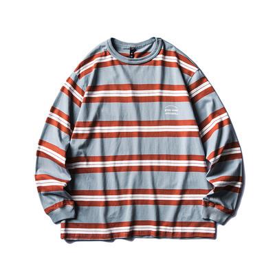 【UNISEX】ボーダー ロングスリーブ 長袖 Tシャツ 【2colors】