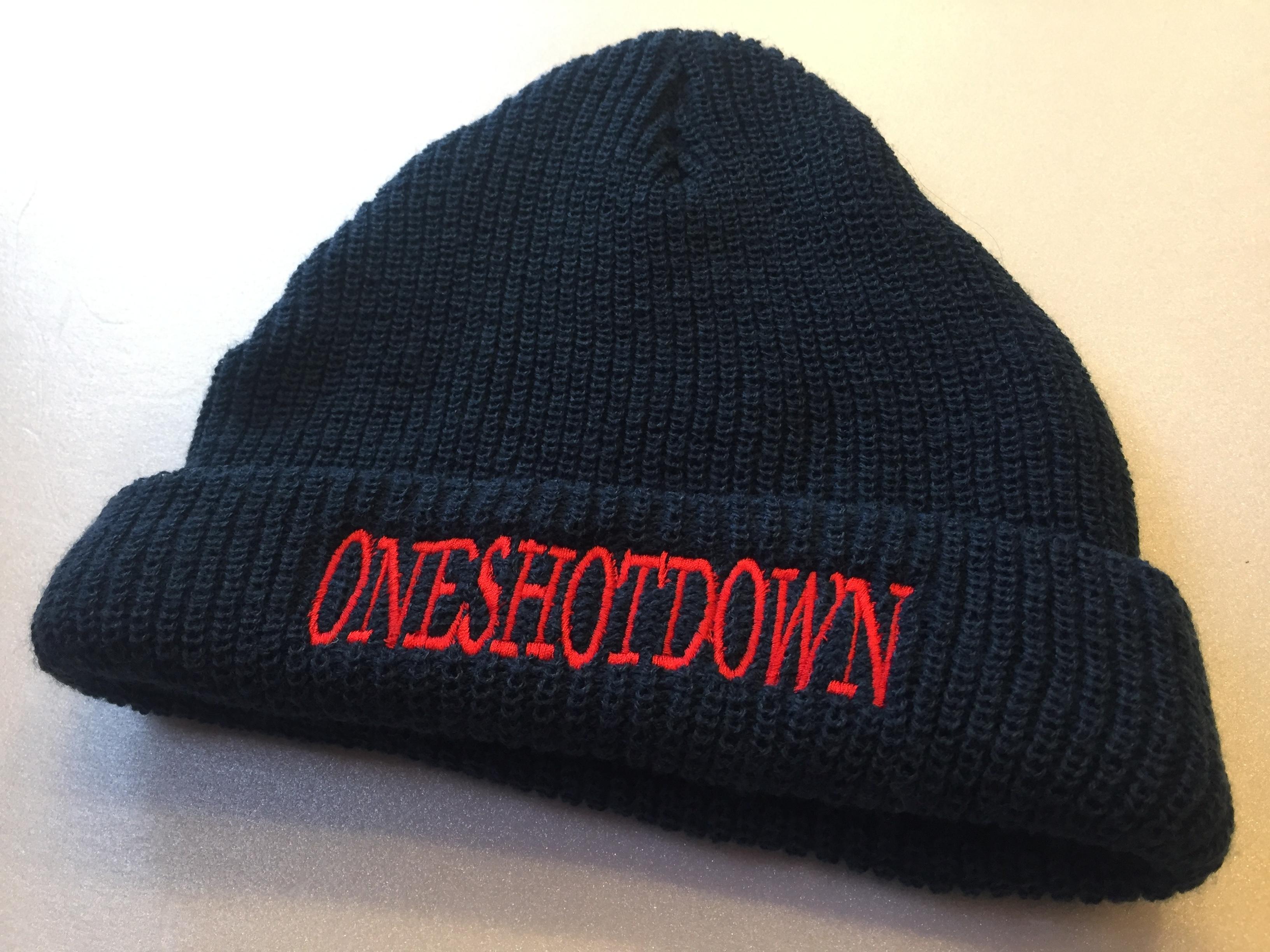 ONESHOTDOWN アルファベット ニット帽 - 画像3