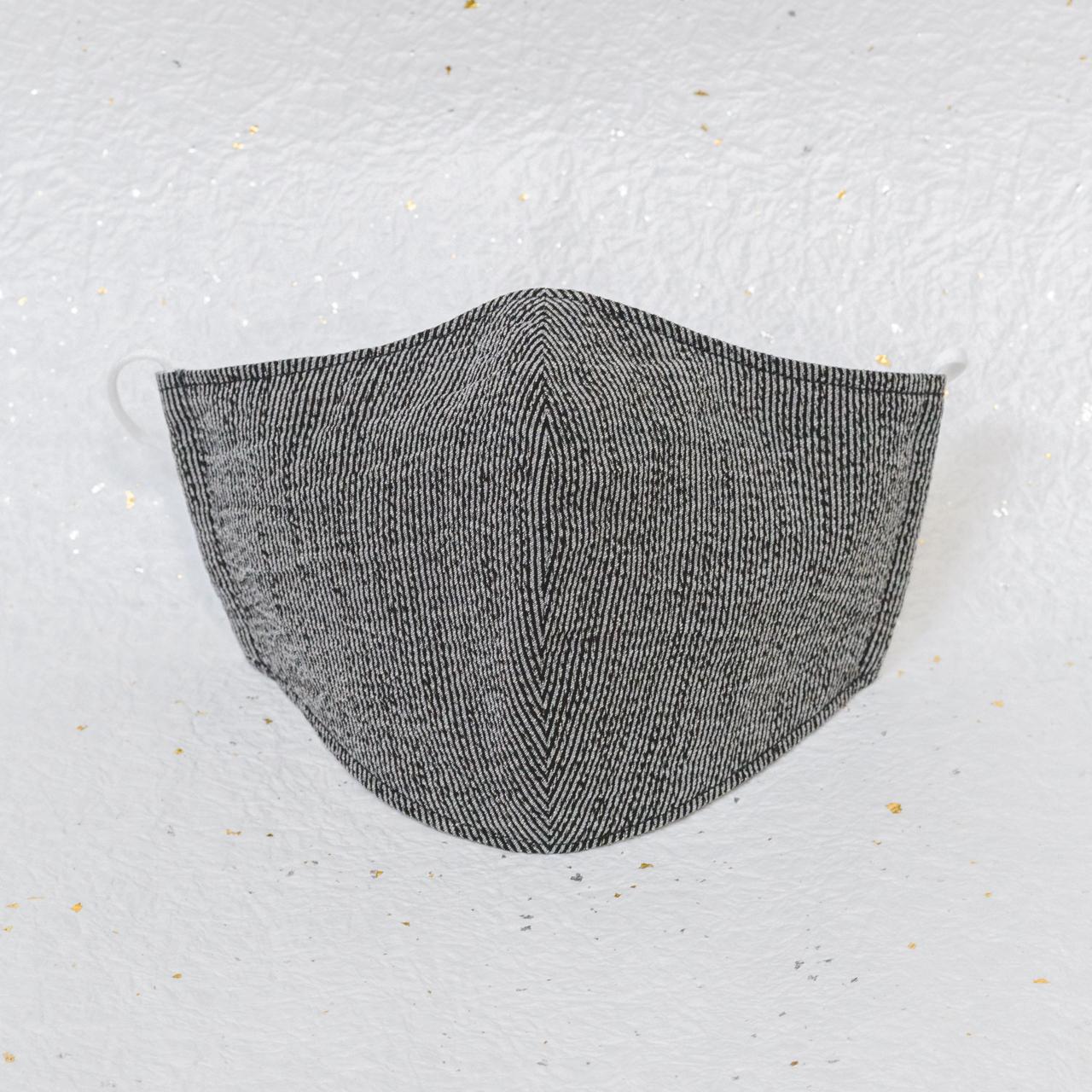 モダン和紙織りマスク クラシック ブラック(黒)