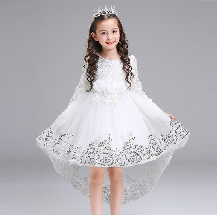 607051d43f405 (drschr-X0013) 女の子 衣装 ドレス ロングスカート 秋 韓国版 礼服 ピアノ 発表会 ドレス 子供 結婚式ドレス リングガール 子供の ドレス