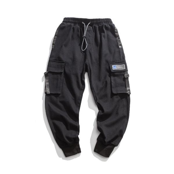 【UNISEX】マルチポケット カジュアル ジョガーパンツ【2colors】