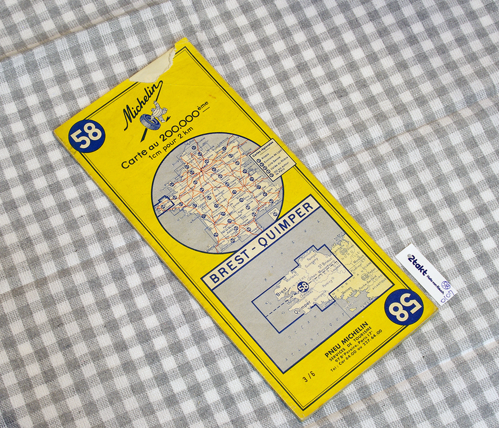 【Vintage/Used品】1964 MICHELIN MAP No.58 フランス北西部 BREST-QUIMPER /0107
