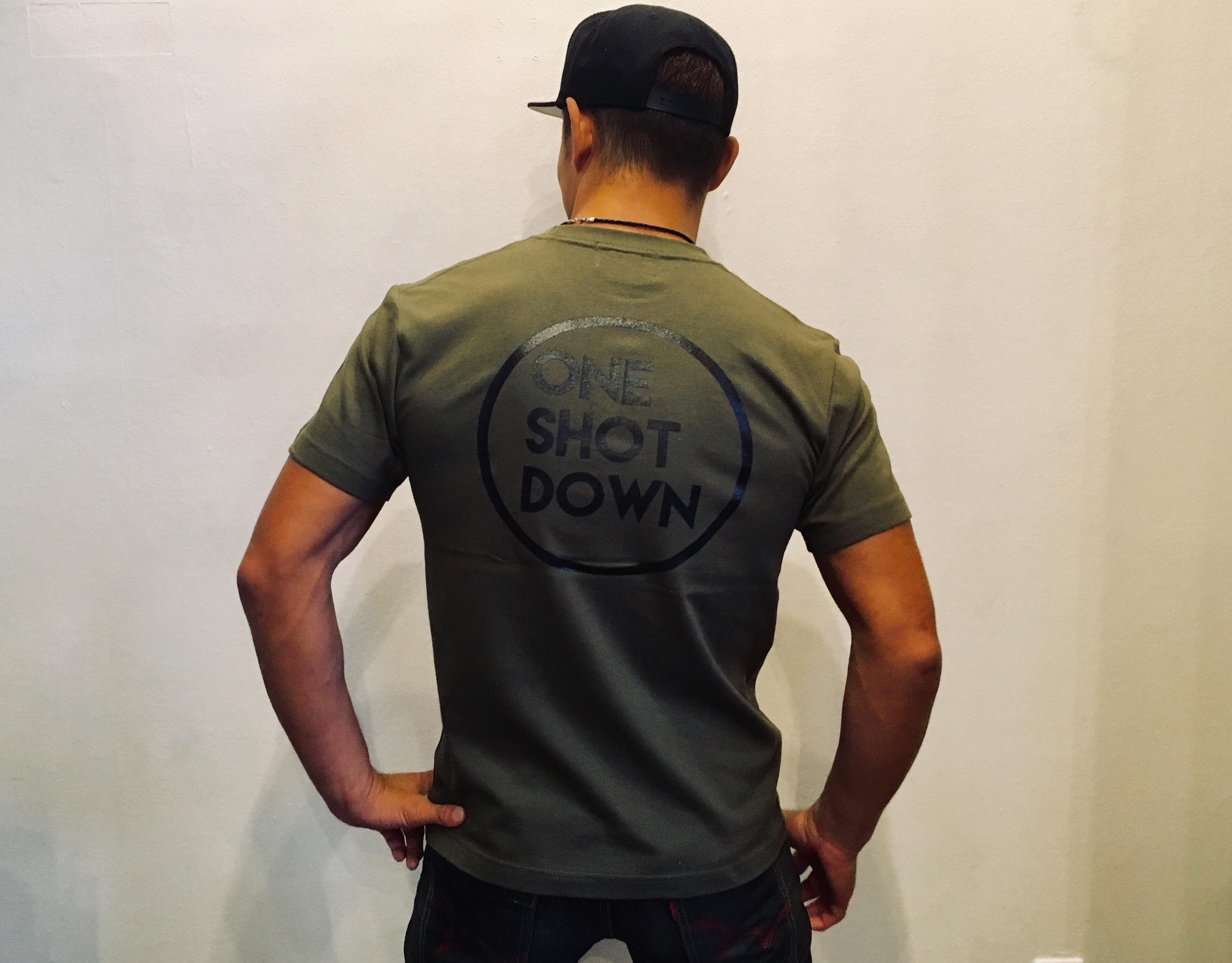 ONESHOTDOWN サークルロゴ Tシャツ - 画像3