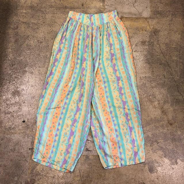 Geometric Pattern Easy Pants ¥4,800+tax