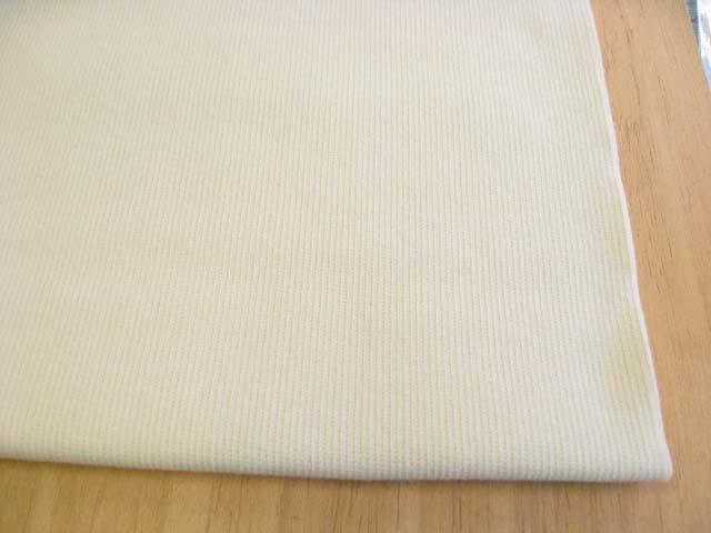 J&B定番 綿40スパン・リブ バニラ(綿かすはありませんが、生成りに近い色です) NTM-2574