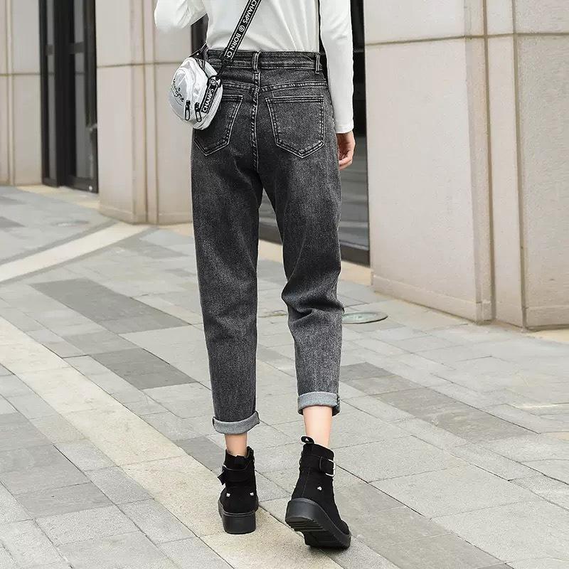 【即納】side hole zipper pants