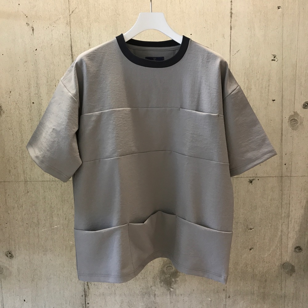 meanswhile Twill Stretch Packable Pocket Tee L SIZE LIGHT GREY