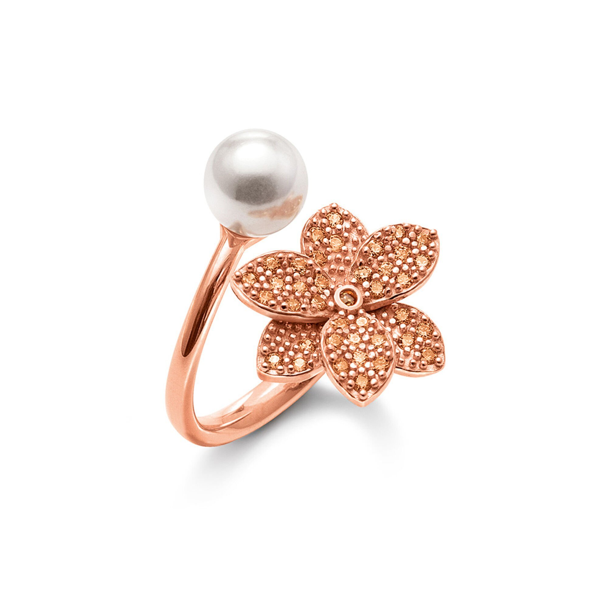 Blooming Grace Silver 925 18k Rose Gold Plated Ring