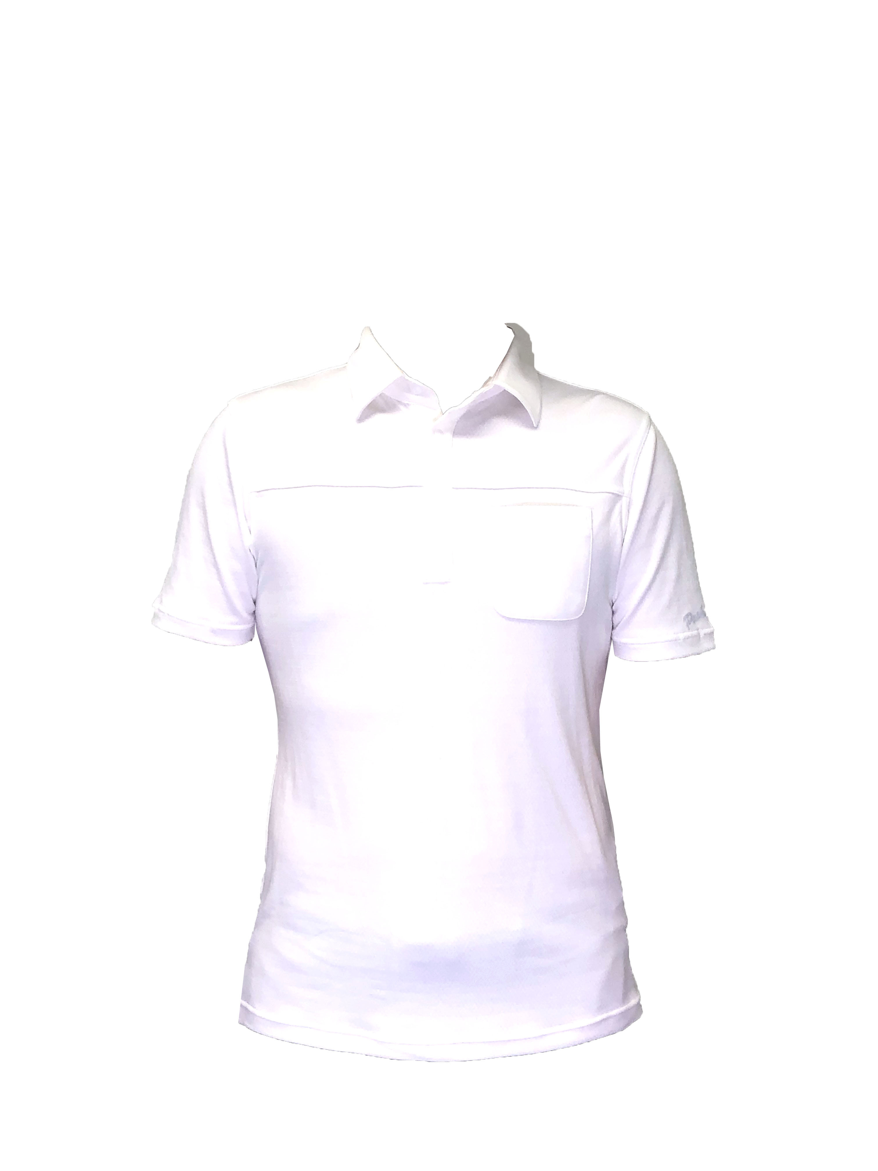P819SS01 接触冷感 メンズポロシャツ(ホワイト)