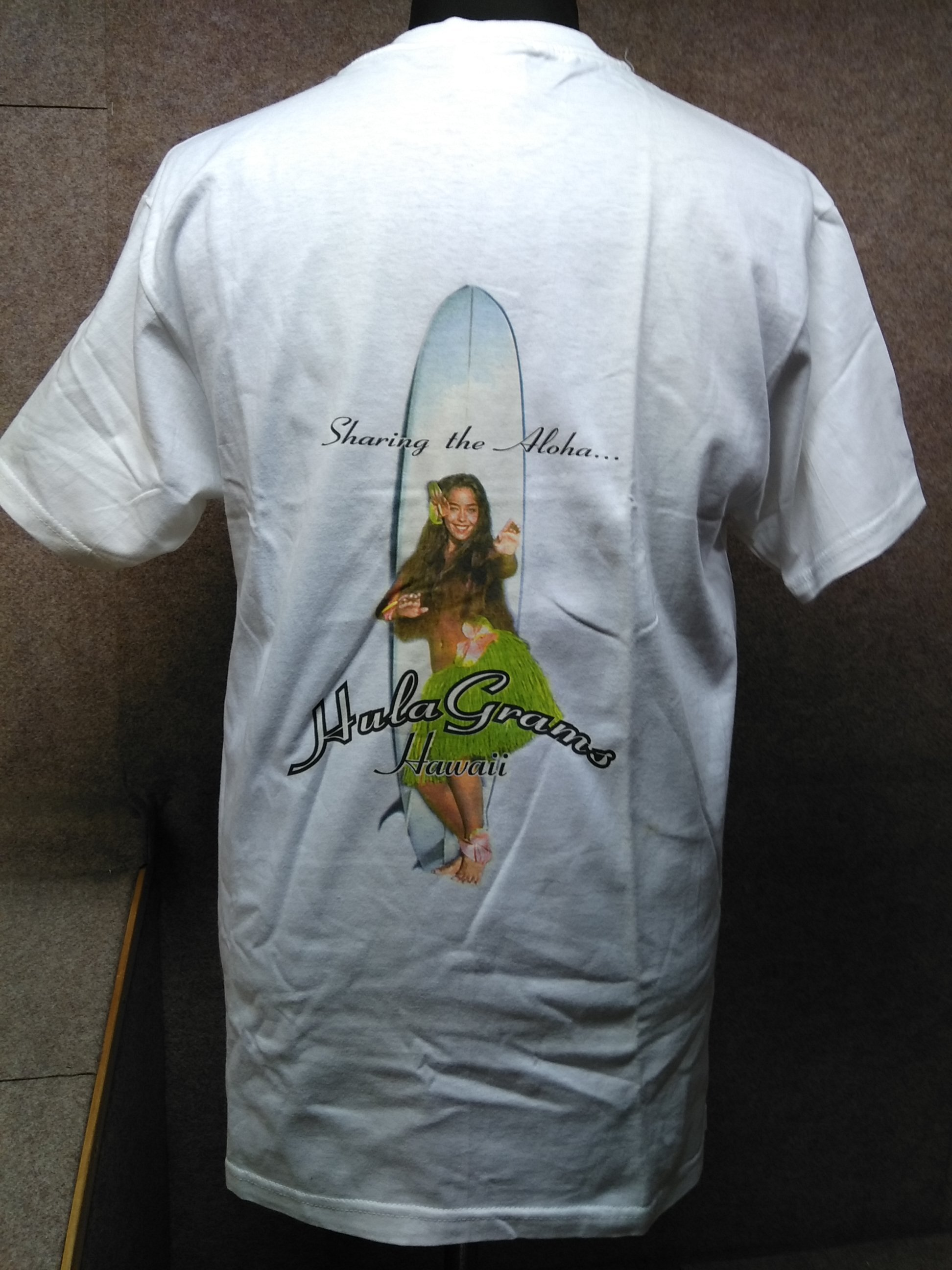 Hula grams 米国製 ハワイ フラダンス Tシャツ M 白 u1163a