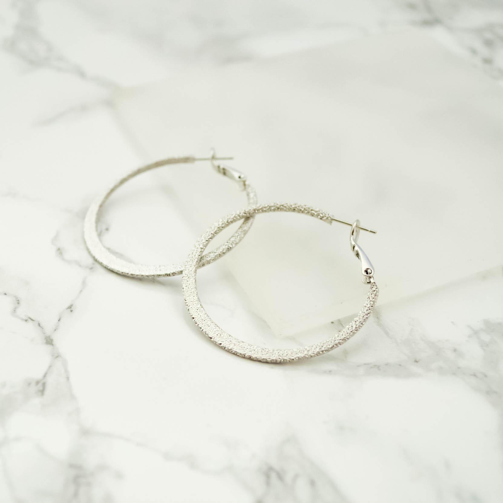 Stardust Hoop Pierces(silver)4cm