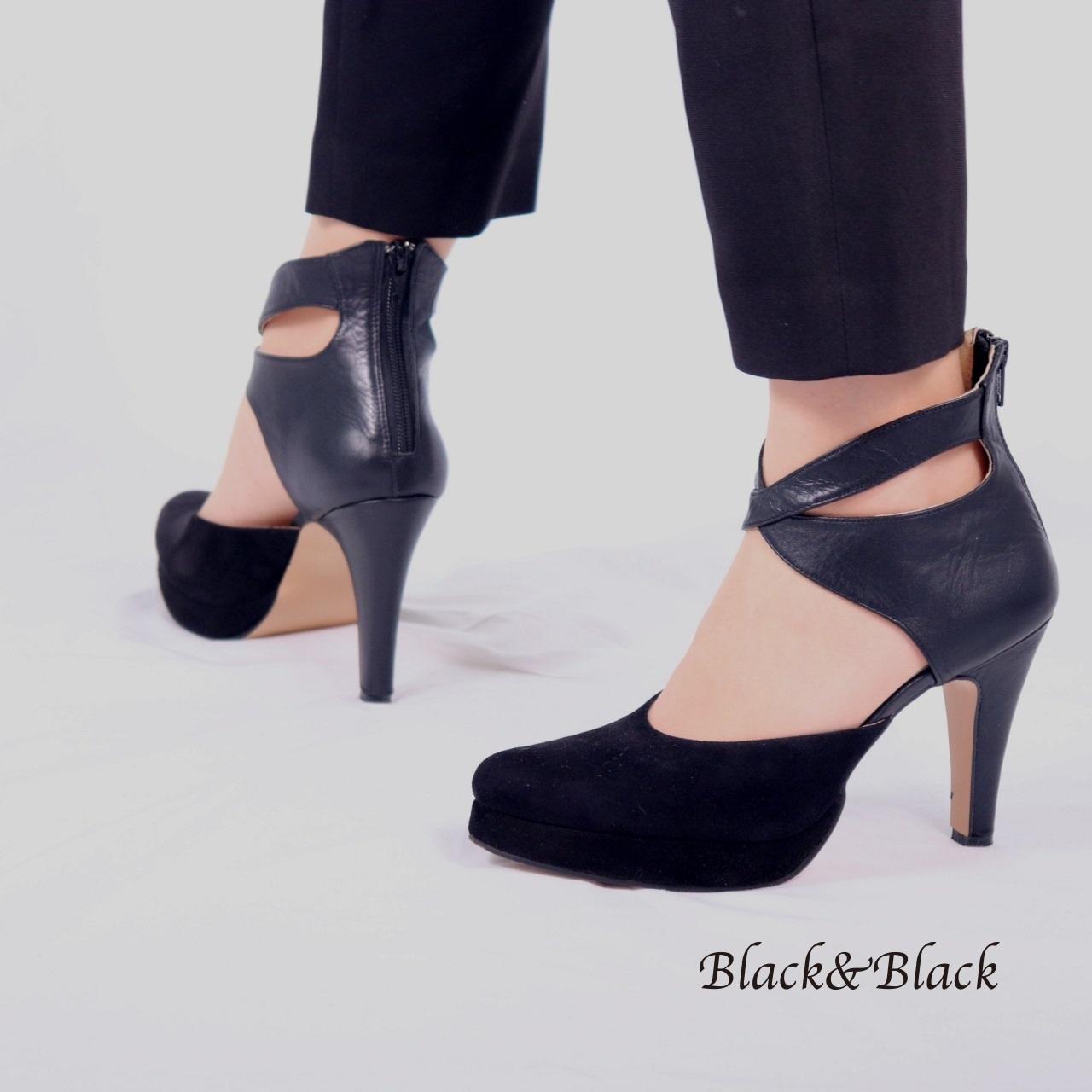 パンプスLady Black×Black