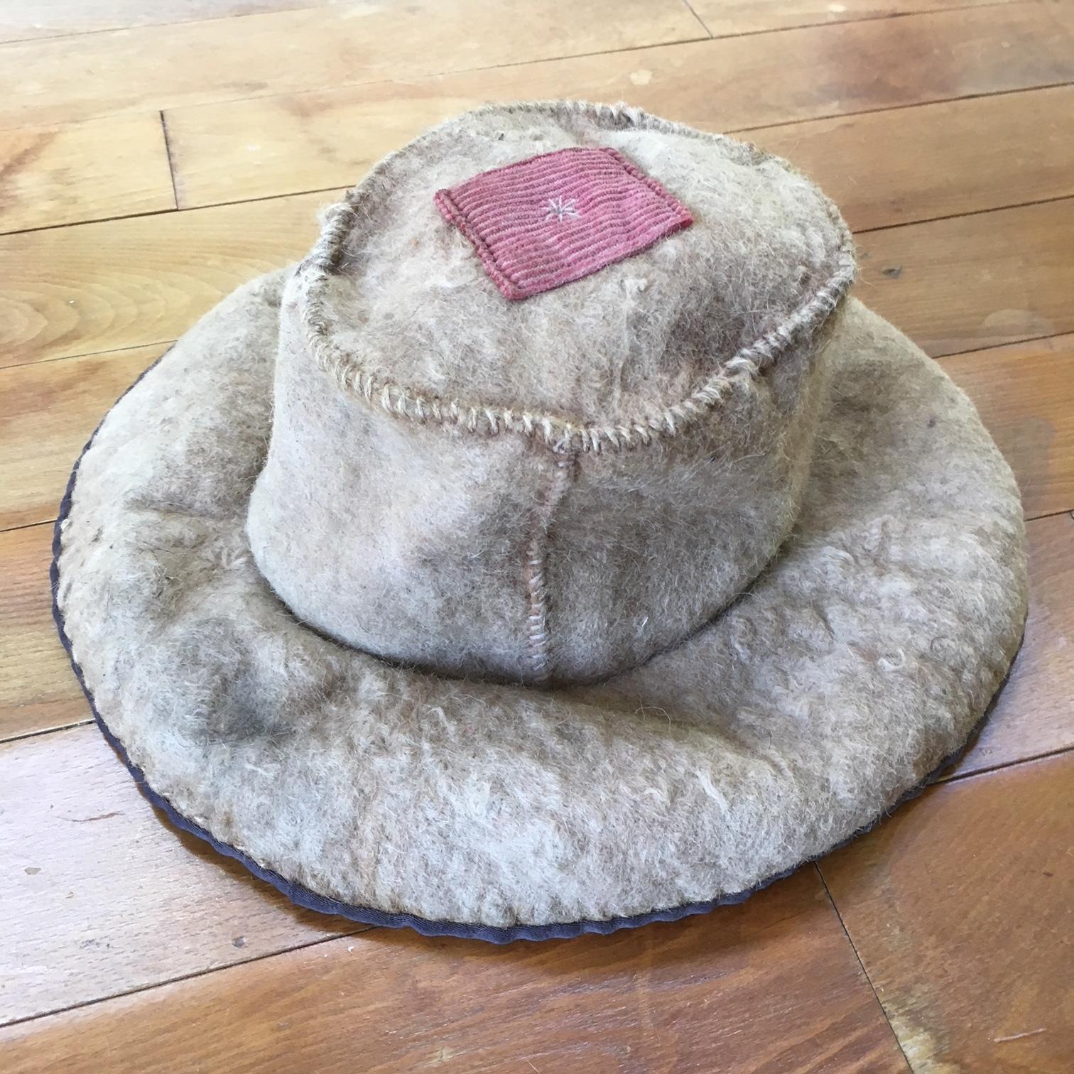 西チベット 遊牧民フェルト・帽子 子供用