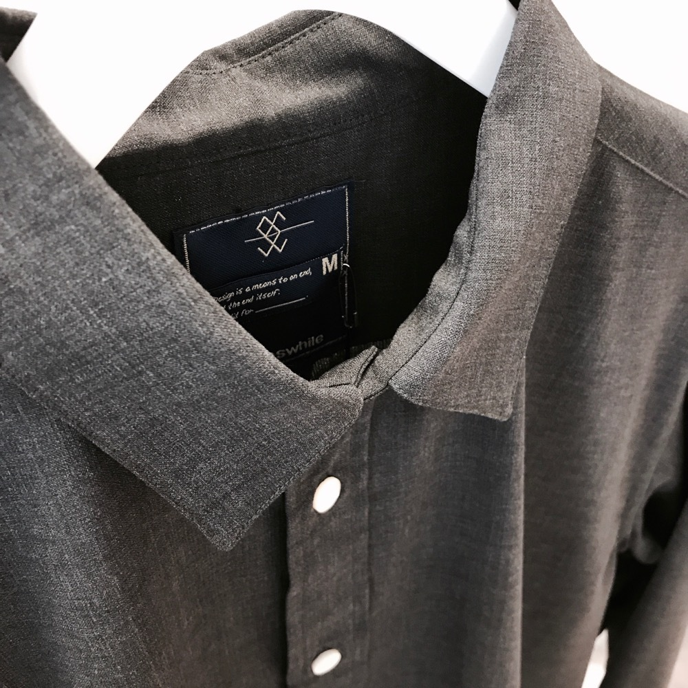 meanswhile Cordura Wool Stretch Pocket SH CHARCOAL