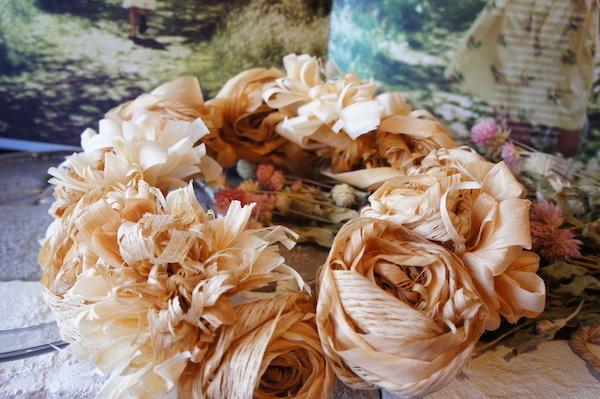 カンナの花冠 木ウェディング特別企画 *受注製作*