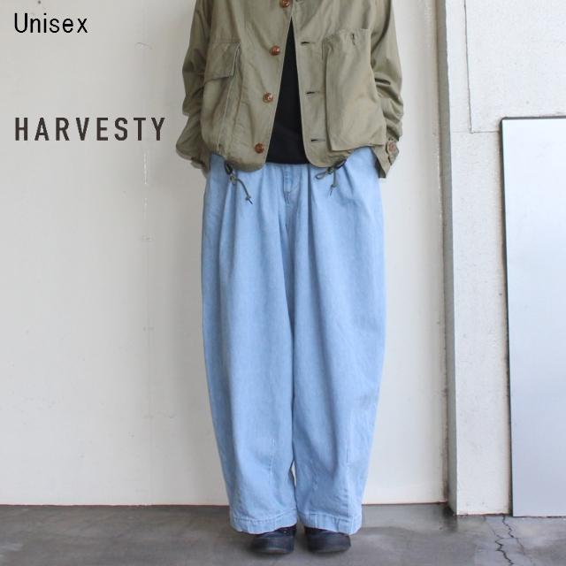 HARVESTY デニムサーカスパンツ CIRCUS PANTS A11801 (LIGHT BLUE)