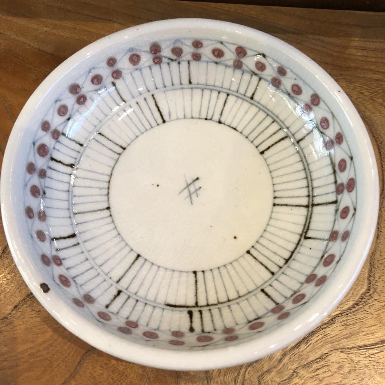 砥部焼 陶彩窯 染付丸皿