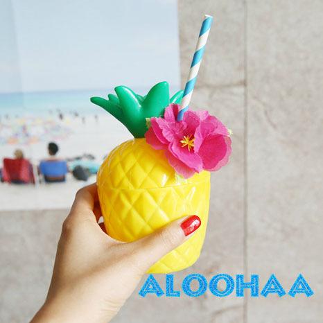 パイナップル カップ パーティーグッズ 食器 Hawaiian LUAU