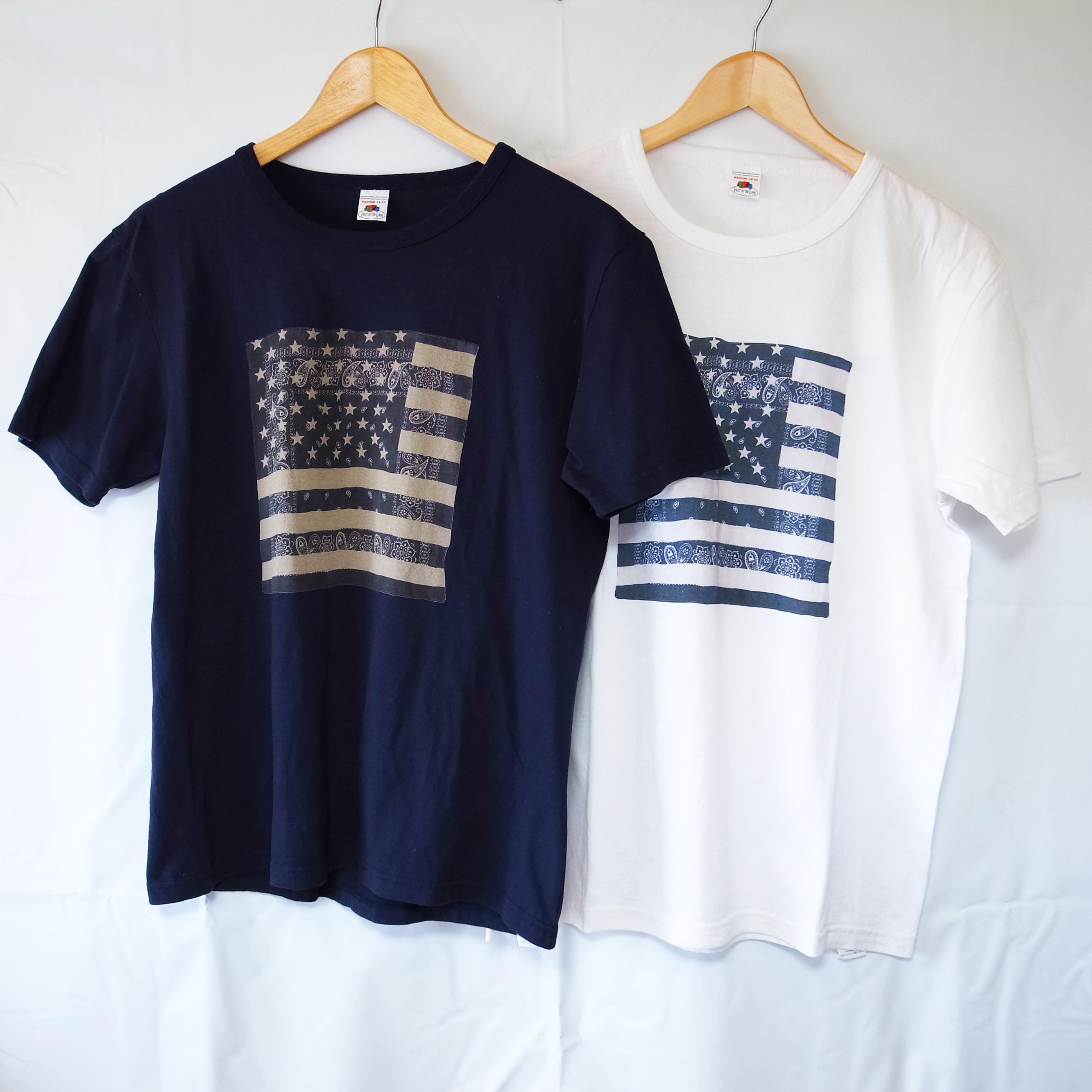 星条旗バンダナ柄 メンズ Tシャツ