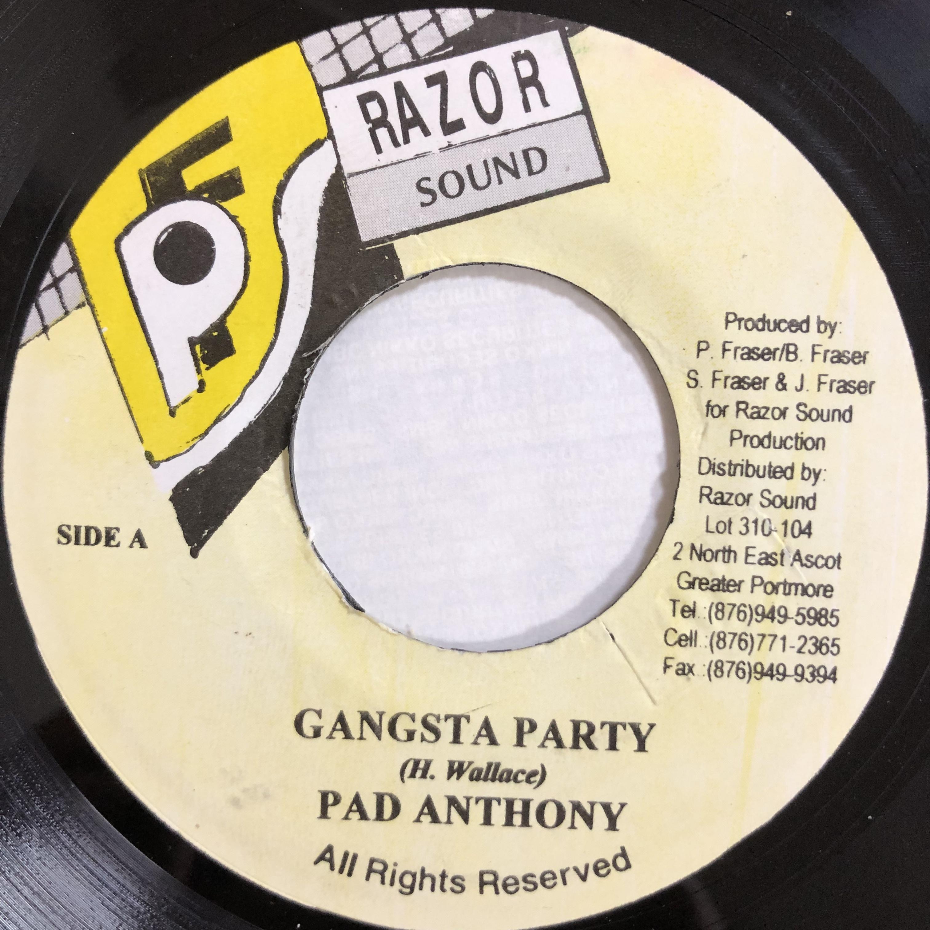 Pad Anthony(パッドアンソニー) - Gangsta Party【7-20155】