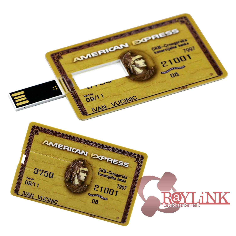 【USBドライブ】「クレジットカード型USB」AMERICAN EXPRESS GOLD 16GB フラッシュメモリー