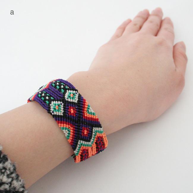 メキシコの手編みブレスレット/A11_a〜d /MEXICO