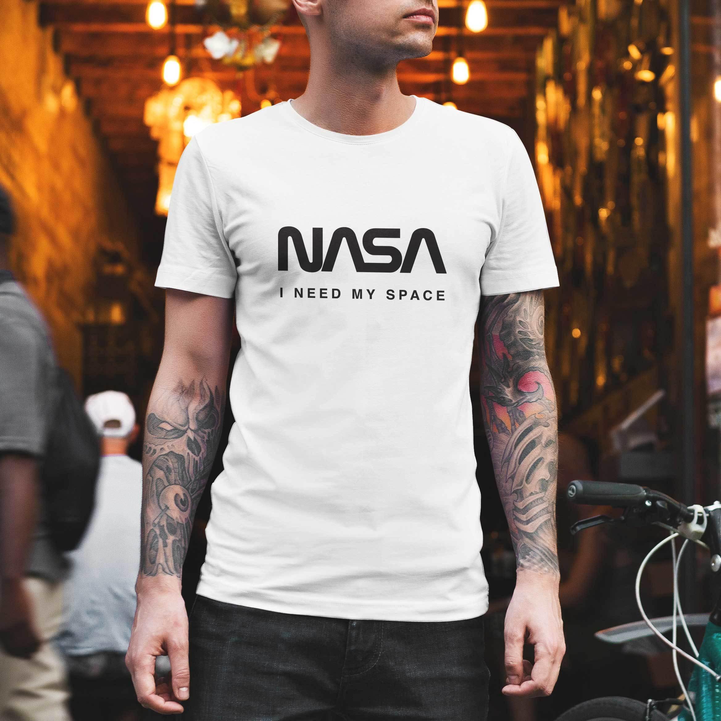 NASA公認Tシャツ(丸首)・ロゴタイプ(ワーム)・フルーツオブザルームボディJ3930HD