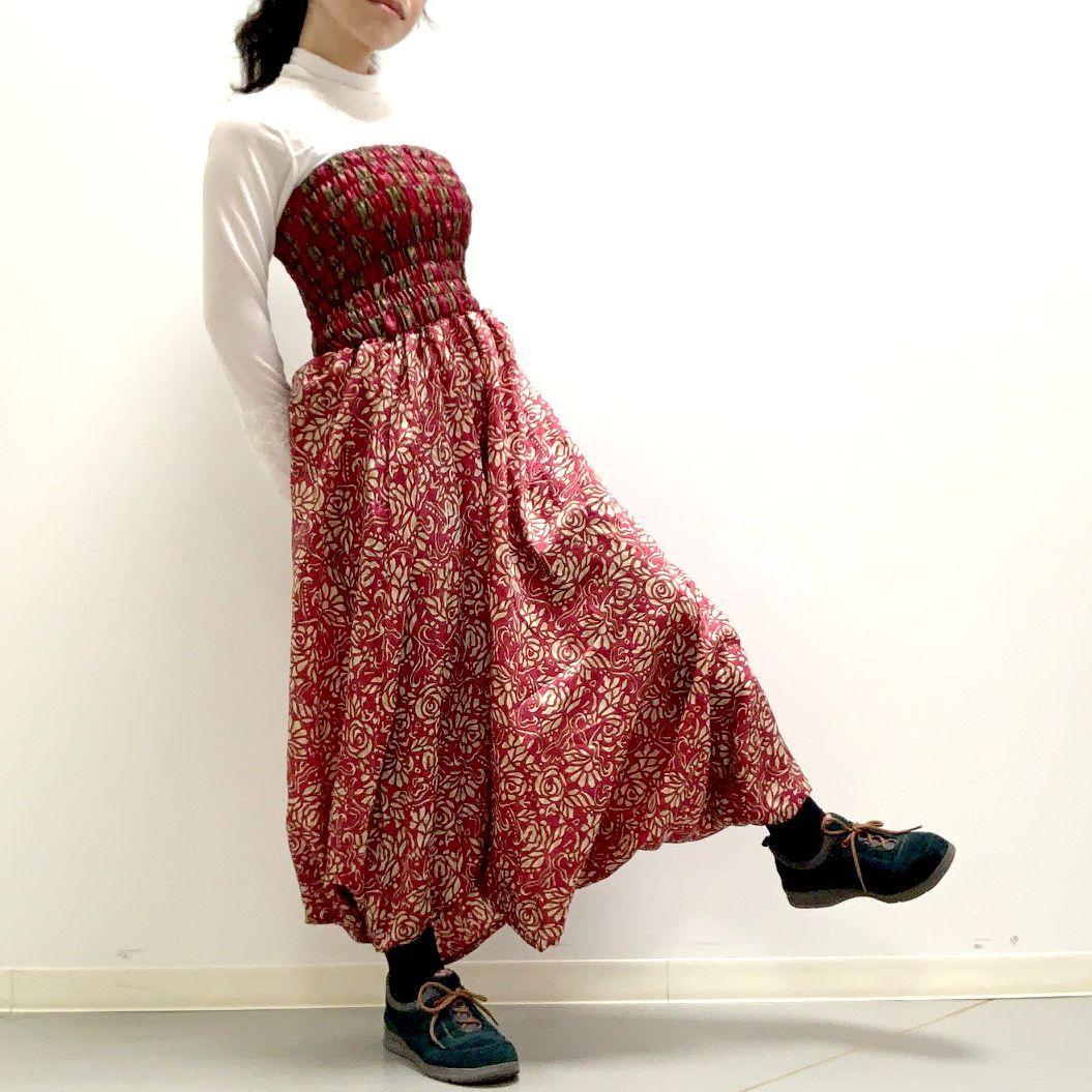 vtri-016 ビンテージシルクサリー トリスタイル【ローズ・プリンセス】