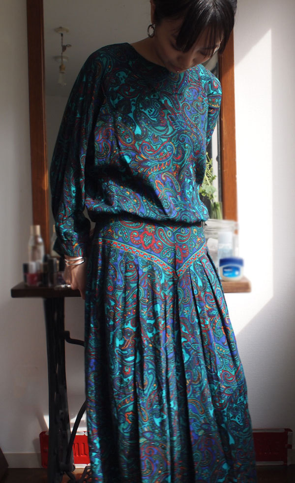 70's ILGWU Paisley onepiece