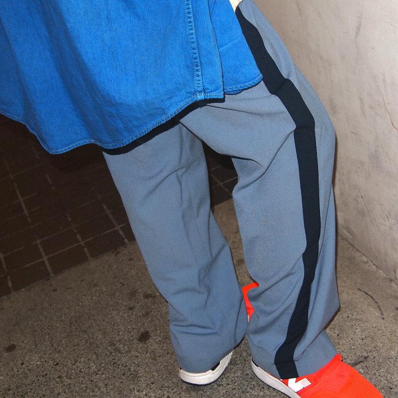 【sandglass】line tuck pants A/【サンドグラス】ライン タック パンツ A
