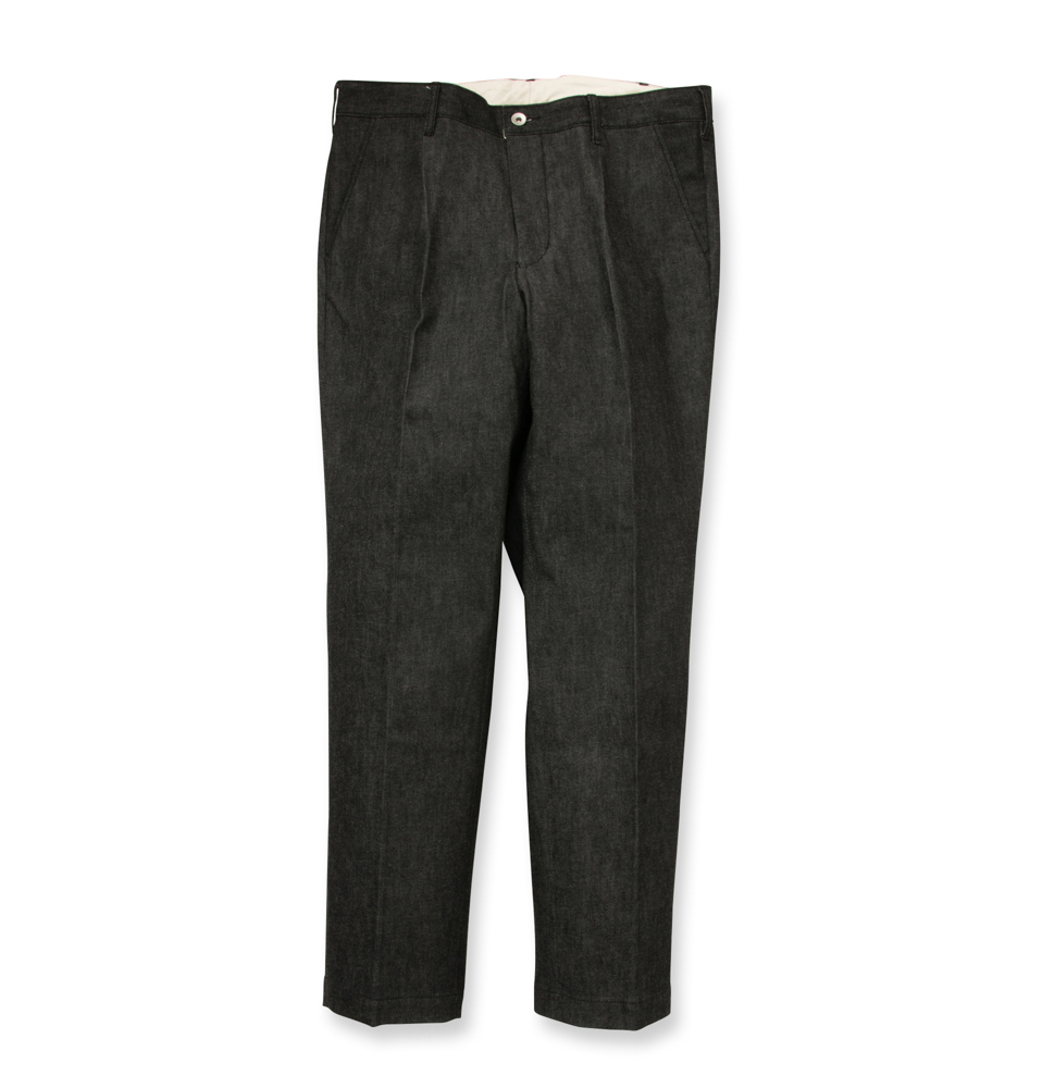 【SON OF THE CHEESE】Denim slacks(BLACK)