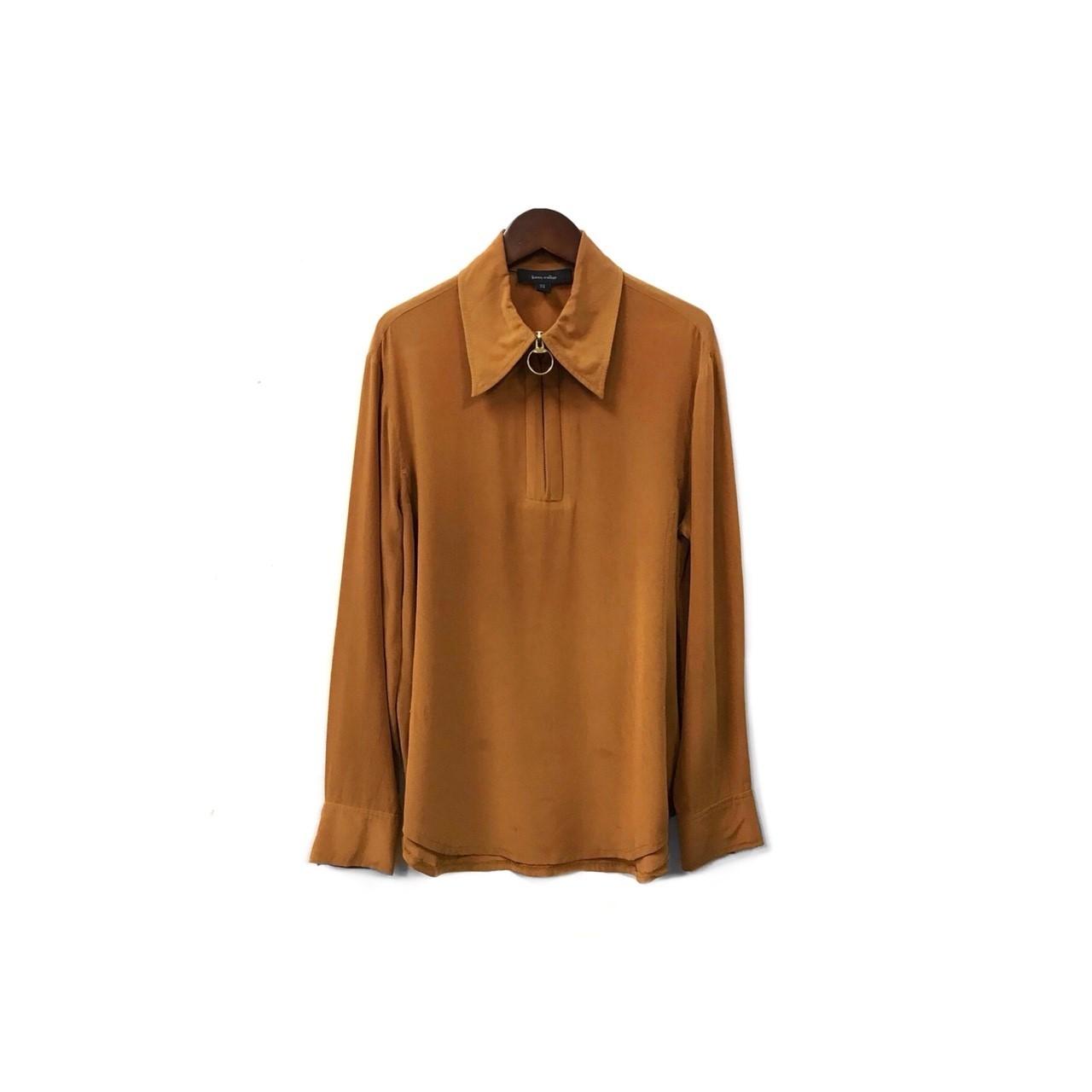 karen walker - Silk Half Zip Shirt (size - 4) ¥13500+tax→¥9450+tax