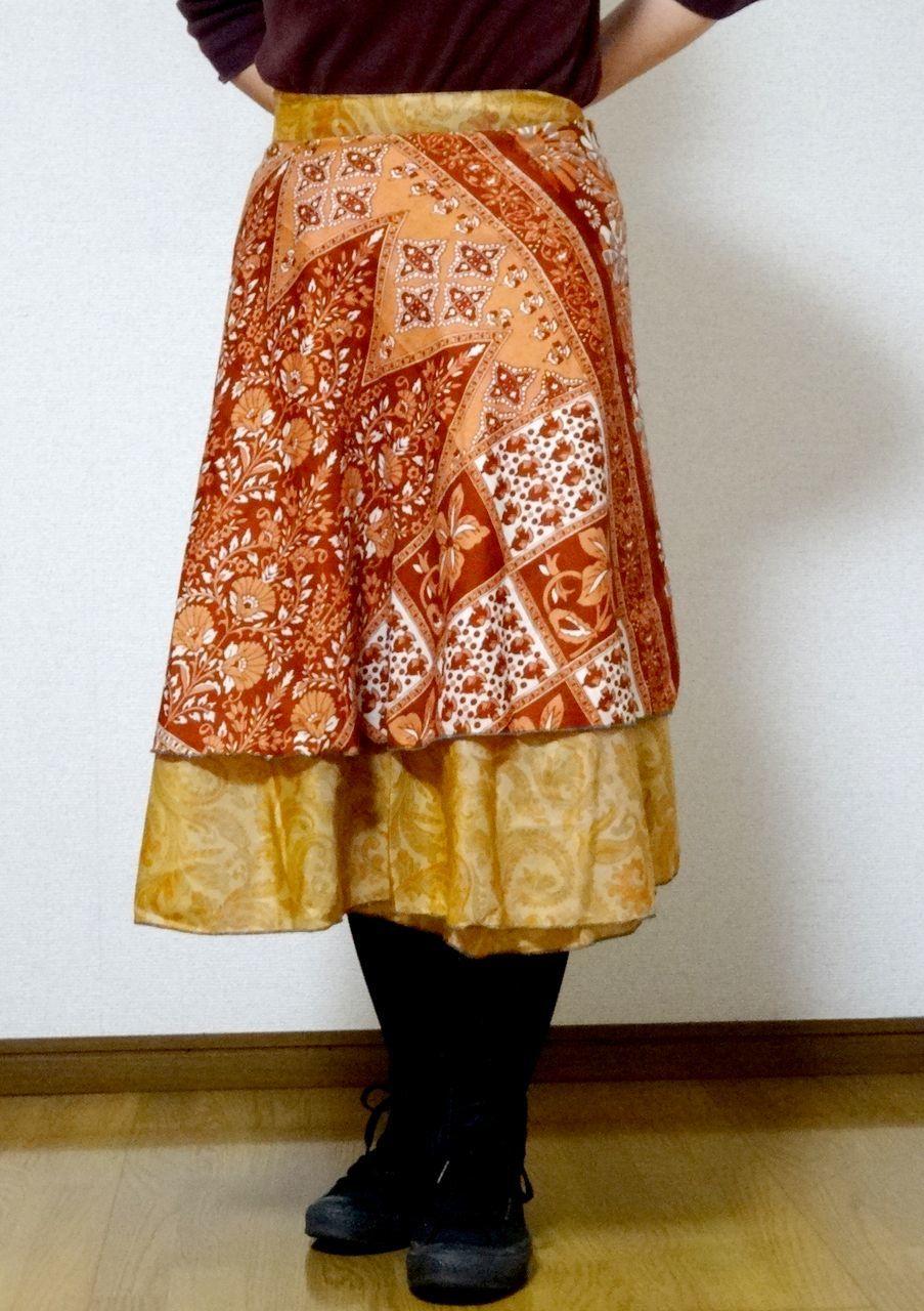 dss-021 シルクサリー巻きスカートショート